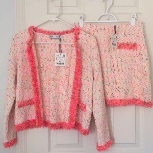 Zara tweed like set
